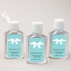 Tiffany OFF! Tiffany and Company Party Favors Gifts Hand Santizer Breakfast at Tiffanys Party Favor Bleu Tiffany, Tiffany Blue Party, Tiffany Birthday Party, Tiffany Theme, Tiffany & Co., Tiffany Wedding, Tiffany Co Party Ideas, Birthday Parties, Bridal Shower Decorations