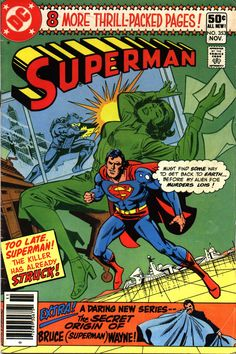 """comicbookcovers: """"Superman #353, November 1980, cover by Ross Andru and Dick Giordano """" more comics here"""
