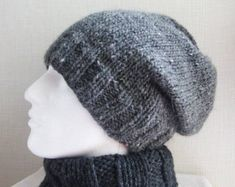 Slouch Knit Hats Easy Patterns