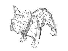 Animal Paper Model - Bulldog Free Papercraft Download - http://www.papercraftsquare.com/animal-paper-model-bulldog-free-papercraft-download.html#AnimalPaperModel, #Bulldog, #Dog