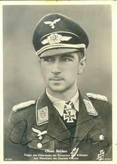Werner Mölders (18 Mar 1913 – 22 Nov 1941) was a World War II German Luftwaffe pilot and the leading German fighter ace in the Spanish Civil War. Mölders became the first pilot in aviation history to claim 100 aerial victories—that is, 100 aerial combat encounters resulting in the destruction of the enemy aircraft, and was highly decorated for his achievements.