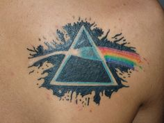 """""""I got this tattoo in Buenos Aires. The painting means the dark side of the moon, my favourite Album maked by my favourite artist, Pink Floyd. I really love the painting as i love the album."""""""