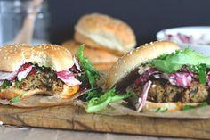 "The Best Veggie ""Big Mac"" Burger with Radicchio Slaw (Vegan)"