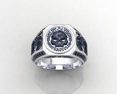 Harley Davidson MotorCycles Ring 1JMW11 by PiettroJewelry on Etsy