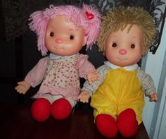 Vintage 70s Boy and Girl Komfy Kids Dolls by MySpecialTreasures, $13.00