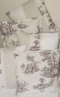 toile pillows                                                                                                                                                                                 More