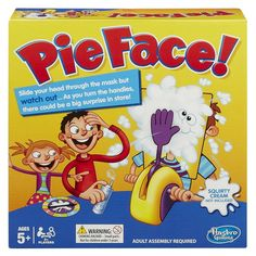 Pie Face Family Toys Games Action Board Game Fun Gambling Roulette Christmas Act #Hasbro