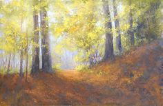 """Morning Walk #2 by Kathy McDonnell Pastel ~ 12"""" x 18"""""""