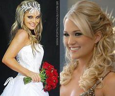 Penteado cabelo solto ou semi-preso para formatura, noivas, festas, debutante: Dicas e fotos