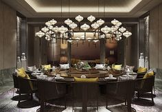 Every story deserves an unforgettable place. We are reshaping the future of luxury hospitality design — one story at a time. Private Dining Room, Luxury Dining Room, Dining Room Design, Dining Area, Dining Table, Modern Restaurant, Cafe Restaurant, Restaurant Design, Chinese Restaurant