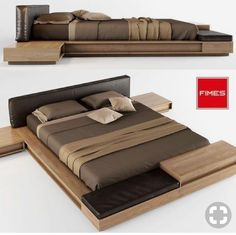 model FIMES YOCO, formats MAX, OBJ, bed bedclothes bedcover bedding bedroom, ready for animation and other projects Bed Frame Design, Bedroom Bed Design, Modern Bedroom Design, Home Decor Bedroom, Platform Bed Designs, Diy Platform Bed, Bed Furniture, Furniture Design, Japanese Bed