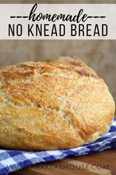 Find success baking bread at home with this simple Knead Not Sourdough Bread recipe originally from Alton Brown. A Dutch Oven and an overnight time period to allow the dough to rise are the keys to this beautiful loaf of no knead sourdough bread. #easy #bread #recipe #dutchoven No Knead Bread, Sourdough Bread, Baking Bread At Home, Dutch Oven Bread, Brown Recipe, Alton Brown, Bread Recipes, Banana Bread, Easy Bread