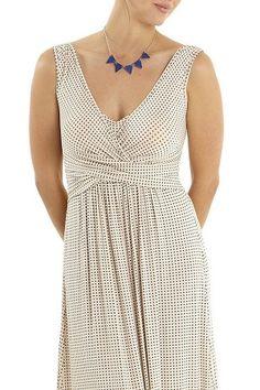 Print Wrap Sleeveless Maternity & Nursing Dress