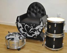 retired drum set. Not a bad idea. Place it somewhere in my dream home; maybe in the den.