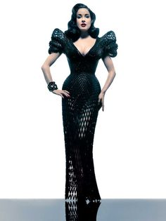 3D printed clothing is a very nifty idea. But let's face it, it usually ends up bearing anunfortunateresemblance to a science fair project.But throw in Dita Von Teese and 3D printed fashion becomes the sexiest thing around. Designed on an iPad and printed as 3,000 tiny individual parts, this dress is the first fluid, curve [...]