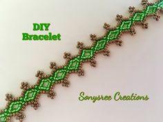 Seed Bead Lacy Bracelet Very Easy Tutorial - YouTube