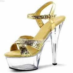 Casual PU Leather Solid High Heel Women Sandals