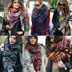 Blanket scarves on eBay | US $6.99 New without tags in Clothing, Shoes & Accessories, Women's Accessories, Scarves & Wraps