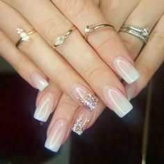 Acrylic Nail Designs for Weddings Beautiful Flawless Acrylic Nails by Tammy Taylor Nails south Africa French Nails, Acrylic Nail Designs, Nail Art Designs, Nails Design, Cute Nails, Pretty Nails, Tammy Taylor Nails, Clean Nails, Gold Nails