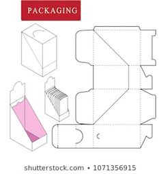Package on package (PoP). Packaging for cosmetic or skincare product. Package on package (PoP). Packaging for cosmetic or skincare product. Paper Gift Box, Diy Gift Box, Paper Crafts Origami, Cardboard Crafts, Gift Box Packaging, Packaging Design, Paper Box Template, Gift Wraping, Printable Box