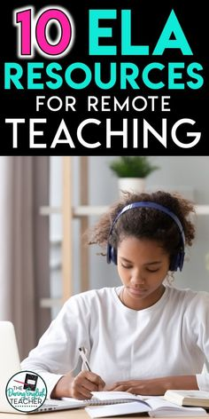 These ten ELA resources are optimized for remote learning! Remote learning ideas and activities for middle school ELA and high school English. Middle School Ela, Middle School English, Middle School Classroom, English Classroom, Classroom Decorations Middle School, Flipped Classroom, Classroom Setup, Classroom Design, Art Classroom