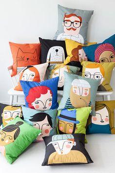 Cushion Cover Designs, Cushion Covers, Pillow Covers, Sofa Next, Cute Cushions, Diy Cushion, Oeko Tex 100, Swedish Design, Fabric Painting