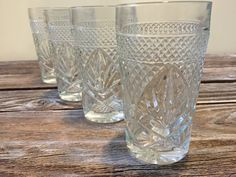 Vintage Set of 4 Clear Tumblers Luminarc by DianesStuffForYou