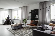 A Scandinavian Apartment In Stockholm: Liljeholmen Home by Stylingbolaget
