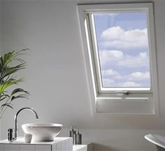 White Finish PVC roof window Fakro Roof Windows enable you to convert your loft in a completely different and new space. This will allow you to fully use previously unused space for almost any purpose that you have in mind, it will also add light and a modern look to your property. We offer different types of Windows and accessories such as: pivot, top hung, side hung escape and combination styles.