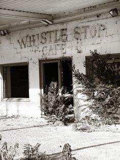 The Old Whistle Stop Cafe Photograph - The Old Whistle Stop Cafe Fine Art Print