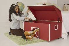 How to Build a Toy Chest  could also be painted like a princess castle to hold dress up clothes!! :)