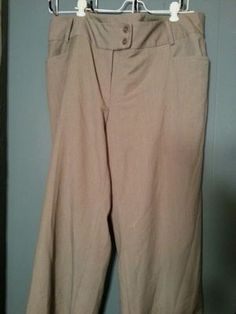 Rafael brand women pant dress tan size 16 W in US (sells for $5)