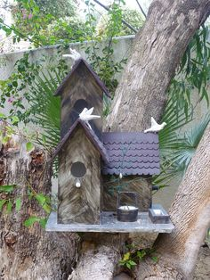Birdhouse in the hotel grounds.