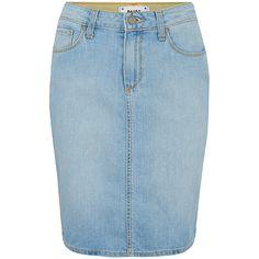Paige Denim Deirdre Denim Skirt - Loren found on Polyvore