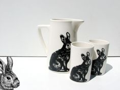 Rabbit ice tea glasses