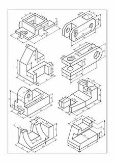 3d Drawings, Technical Drawings, Geometric Shapes Drawing, Autocad Isometric Drawing, Interesting Drawings, Drawing Exercises, Mechanical Design, Cad Models, 3d Printing