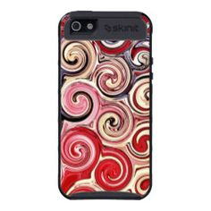 Swirl Me Pretty Colorful Red Blue Pink Pattern iPhone 5 Cases