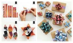 use your old magazines to make gift bows definitely doing this. Diy And Crafts, Arts And Crafts, Paper Crafts, How To Make Bows, How To Make Wreaths, Do It Yourself Projects, Projects To Try, Coaster Crafts, Gift Bows