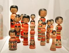 Kokeshi Doll images from 2009 exhibit.