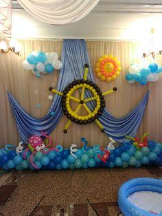 Esta decoración con globos es súper original para hacer una fiesta. La temática marinera es lo más top para el verano. ¿Te atreves?