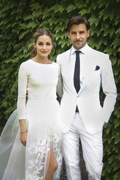 Braut-Look: Olivia PalermoHochzeit mit Stil: Fashion-Ikone Olivia Palermo entschied sich gegen ein herkömmliches Brautkleid und für eine