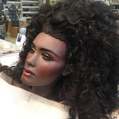 Mannequin painted by Rootstein employee Barbara Graff