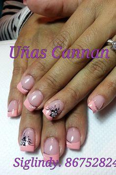 Pint Silver Nails, Red Nails, Hair And Nails, French Nail Art, French Tip Nails, Cute Nails, Pretty Nails, Light Pink Nails, Fingernail Designs