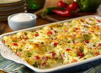 KING RANCH CHICKEN CASSEROLE.....the ranch flavor makes it!