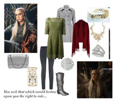 """The Elvenking, Thranduil"" by fjsaqib ❤ liked on Polyvore featuring Helmut Lang, Mossimo Supply Co., Chanel, Wallis, Dolce&Gabbana, River Island, ASOS and shu uemura"