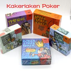Kakerlaken: Salat, Poker, Royal, Suppe, Mogel Motte // Price: $12.95 & FREE Shipping //  We accept PayPal and Credit Cards.    #gameronboard #boardgame #cardgame #game #puzzle #maze #toys #chess #dice #kendama #playingcards #tilegames