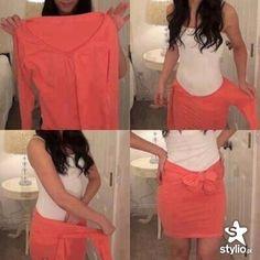 Pokazujemy trendy, inspirujemy, kreujemy styl! Cute idea for teen girls to try this as a skirt.