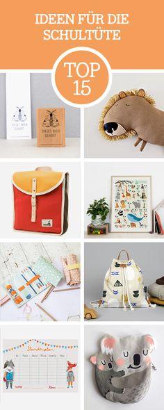 Der Schulanfang naht: Wir zeigen Dir die schönsten Produkte für die Schultüte / back to school: get the cutest products for gift bags and sugar cones via DaWanda.com