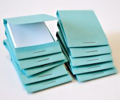 notepads for purse - matchbox style