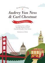 San Francisco wedding invitation for Minted.